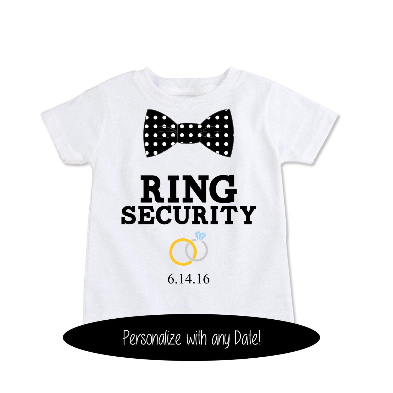 Wedding Gift Ideas For Ring Bearer: Ring Bearer Gift Ring Security Shirt Ring Bearer Shirt Ring