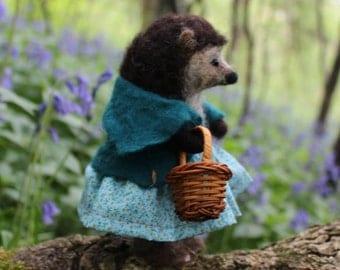 Mrs Truffle Needle Felted Hedgehog OOAK  soft sculpture