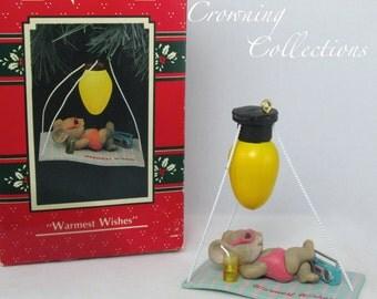 Enesco Warmest Wishes Ornament Mouse Treasury of Christmas Brighten Up Sunbathing Beach Sun