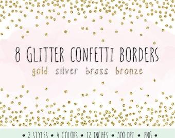 Gold border clip art | Etsy