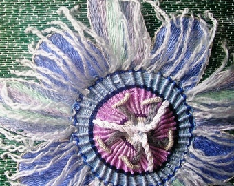 PASSION FLOWERS - Hand Embroidered Wall Art