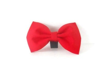 Red Dog or Cat Collar Bow Tie