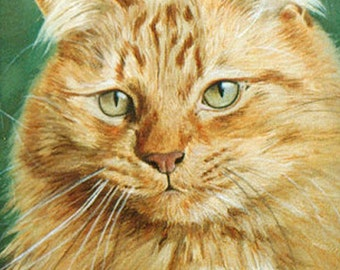 Custom Cat portrait, Pet portrait, Cat Painting - oil painting on stretched canvas. ***Lowest price is 50% DEPOSIT price***