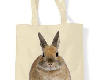 Rabbit Cotton Tote Shopping Bag