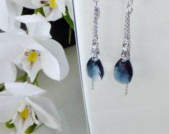 Earrings pearls and Swarovski crystal