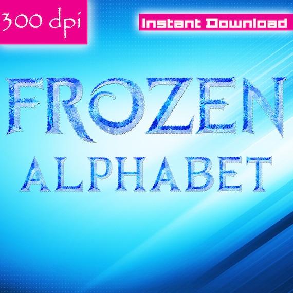 frozen alphabet clipart printable frozen letters numbers