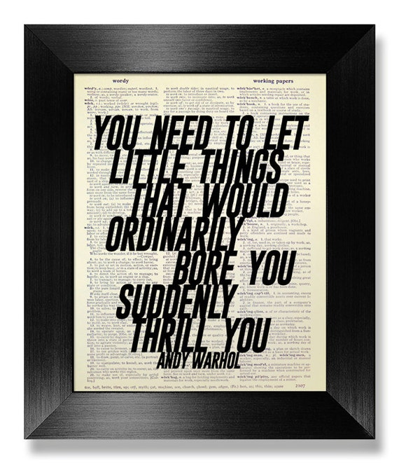 Andy Warhol Pop Art Quotes: Andy WARHOL Inspirational Quote Print Typographic Print POP