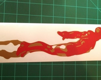 Flyng Iron Man Decal