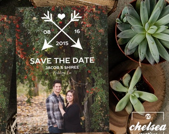 Rustic Arrows Save The Date