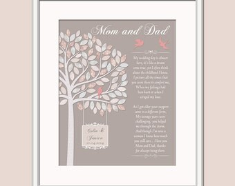Thank You Gift For Mom On Wedding Day : parents wedding gift wedding day gift for mom and dad gift for parents ...