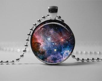 Carina Nebula Galaxy Necklace, Space Jewelry Pendant