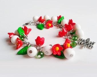 Christmas Bracelet Polymer clay