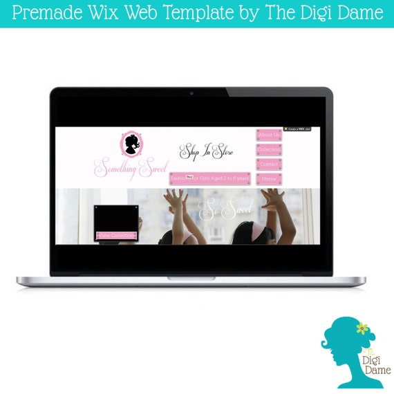 wix ooak website template logo package girls by digidame. Black Bedroom Furniture Sets. Home Design Ideas