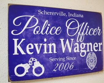 Police Officer Service Sign, Police Sign, Police Gift, Officer Gift, Police Decor, Police Decor, Police Officer Sign, Cop - Herosigns