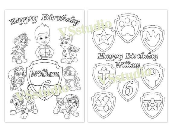 paw patrol birthday favor paw patrol coloring pages