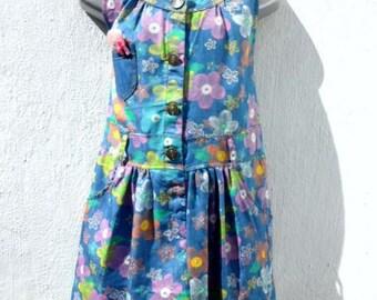 """Parsons&Prossor """"Emily"""" Floral Print Cotton Dress. 4 Sizes."""