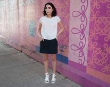 Black Denim Skirt - Womens Skirt - Minimalist Clothing - Denim Miniskirt - Casual Skirt - Modern Clothing - Cotton Skirt - Summer Skirt