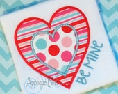 Be Mine Heart Digital Applique Design - Valentine's Day - Machine Embroidery - Valentine