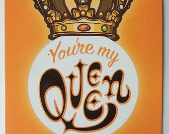 You're my Queen  Postcard