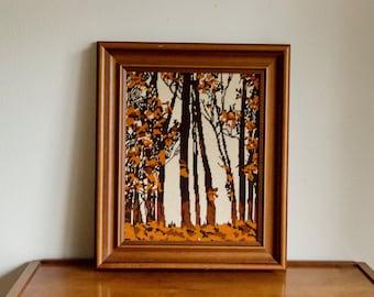 Vintage Tree Crochet Needlepoint