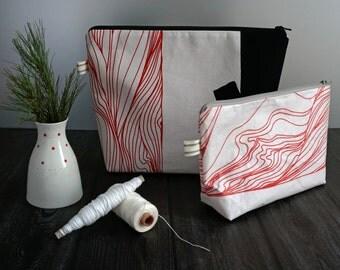 simple toiletries bag coated - tree trunk