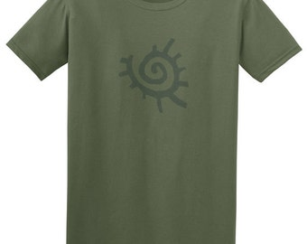 Mens t shirt - native american clothing, green t shirt, new age clothing, astronomy, graphic tee, sun and moon, mans birthday, teenage boys