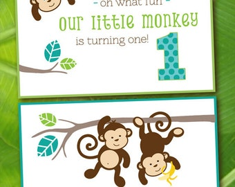 Monkey Birthday Party Printables