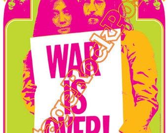 048 - BEATLES John Lennon and Yoko Ono - War is over 1969 - artistic poster