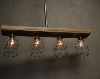 light industrial light cage light wood light barn light farm light. Black Bedroom Furniture Sets. Home Design Ideas