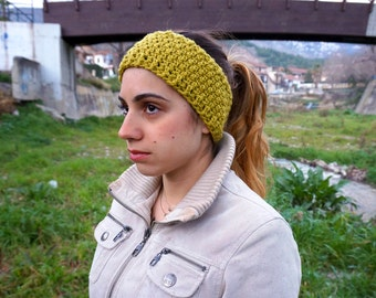 Crochet headband ear warmer, womens hairband, hair accessory, winter headband MP011