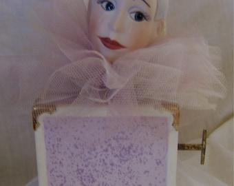 Ceramic and Porcelain Pierrot Clown Music Box