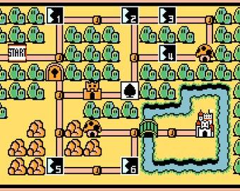 Super Mario Bros. 3 World 1 Map -- Cross Stitch Pattern