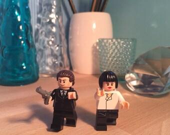 Pulpa de ficción Lego® llaveros llaveros Tarantino culto película LEGO minifigura Custom Set de regalo arte
