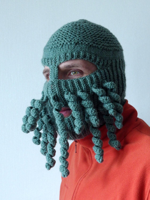 Knitting Patterns For Crazy Hats : Knit Ski Mask Hat Balaclava Full Face Ski Mask Halloween