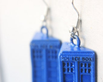 Dr. Who Jewelry - Blue Tardis Earrings, DOCTOR WHO EARRINGS, Geekery jewelry / accessories, doctor who dress, tardis blue dr. who earrings