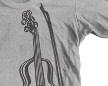 VIOLIN INSTRUMENT T shirt. Great Gift for a Musician. GoWithMusic Orchestra Concert Violin Player. Sizes: Youth / Unisex / Missy