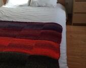 Lollipop - knitted handmade wool quilt