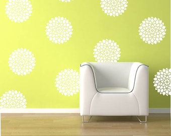Flower Wall Decals - Flower Decals- Bloom Decals WallPaper- Bloom Decals- Wallpaper decals