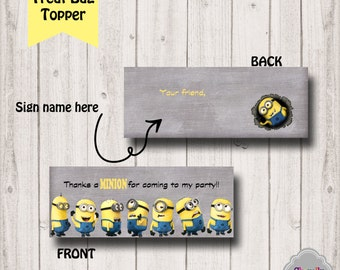 INSTANT DOWNLOAD - Minion Treat Bag Toppers - Printable - BT010