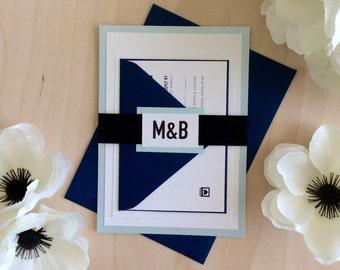 Modern & Bold Wedding Invitation Sample
