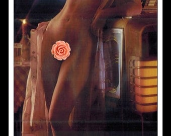 "Mature Playboy November 1976 : Playmate Centerfold Patti McGuire 3 Page Spread Photo Wall Art Decor 11"" x 23"""
