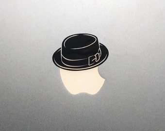 Heisenberg Hat Macbook Decal / Breaking Bad Macbook Pro Sticker
