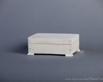 Wedding Ring Box - Engagement Ring Box - Personalized Box - Large Wood Box - Ring Bearer Box - Shabby Chic Wedding Box - Rustic Ring Holder