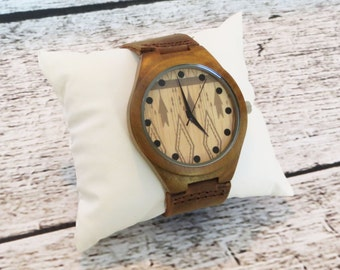 Personalized Wood Wrist Watch - Custom Groomsmen gift - Accessories, Fathers Day Gift - Best Man - Gifts for Men - FREE ENGRAVING! (MW3)