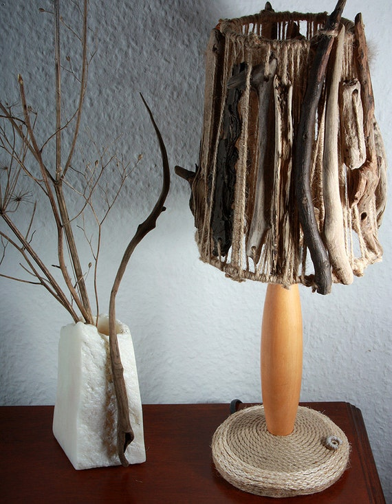 Stockholm handmade driftwood table lamp baltic sea driftwood for Driftwood tables handmade
