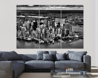 New York Skyline Aerial Photo, New York City, New York Art, NewYork Print, Large Canvas, New York Print, New York Poster, New York Canvas
