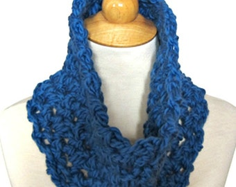 Cowl Scarf Pattern - 30 Minutes/1 Skein Crochet Scarf - Unisex Men Women Teens - Last Minute Gift