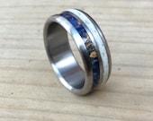 Titanium Ring, Deer Antler Ring, Wood Ring, Antler and Wood Ring, Wedding Ring, Custom Made Ring, Engagement Ring, His and Hers Set