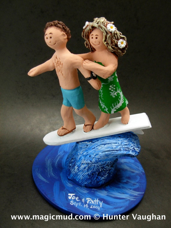 surfer wedding cake topper wedding cake topper for surfers hawaiian wedding cake topper 20657
