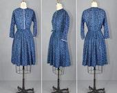 1950s dress / vintage dress / cotton / ABINGDON paisley dress
